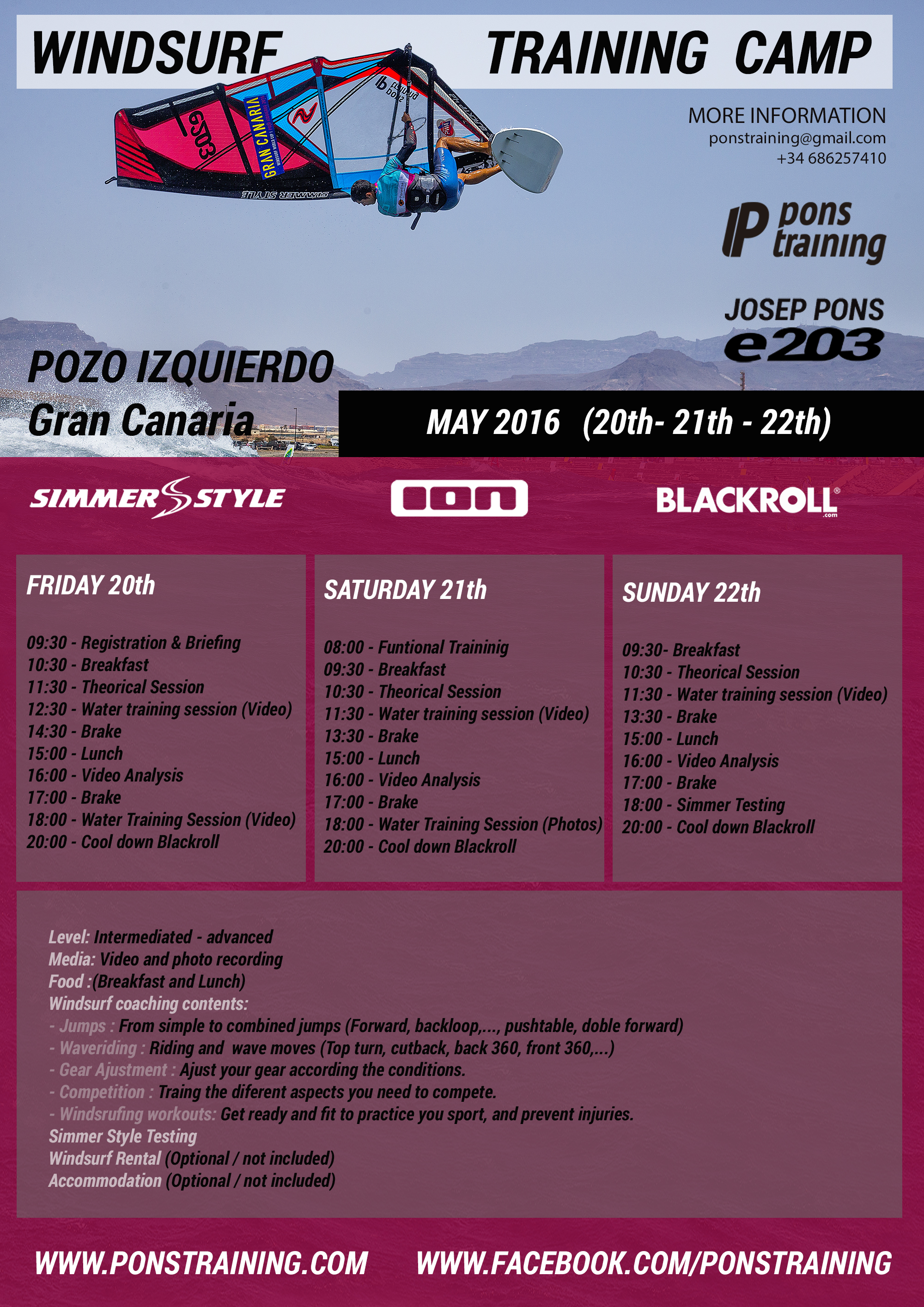 HORARIOS TRAINING CAMP